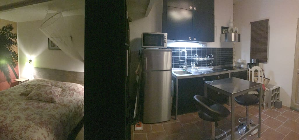 Studio dans une maison villageoise - Sauve - Appartement