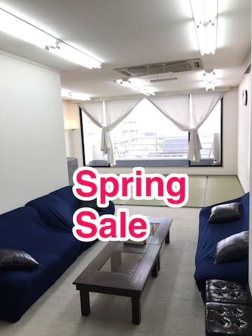 5 mins to Nijo station + Wifi + 50㎡ wide space #2 - Kyoto-shi - Appartement