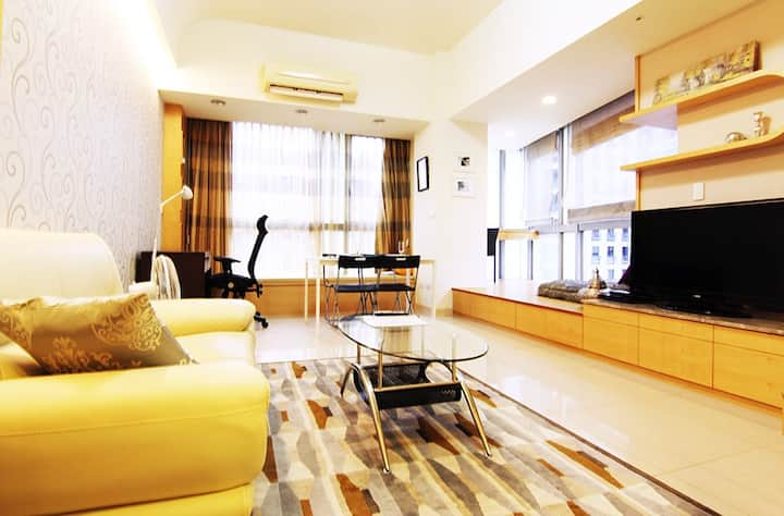 Big Serviced Loft Apt,Taipei 101,gym&pool