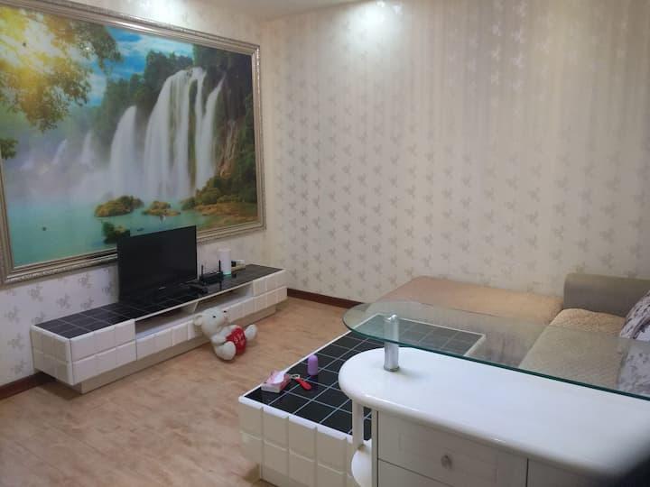 两室一厅,无接触入住,阳光大床房