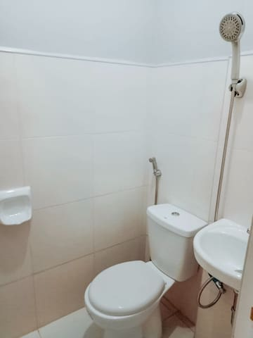 Toilet with bidet and shower