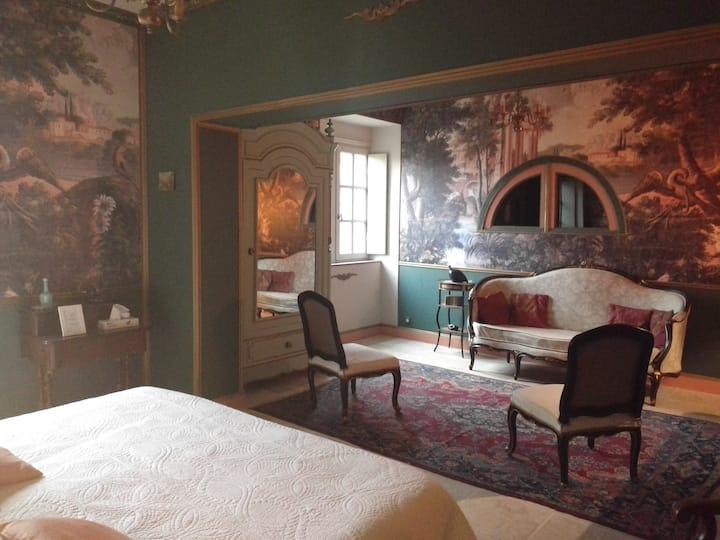 Château d'Agel chambre Aux oiseaux