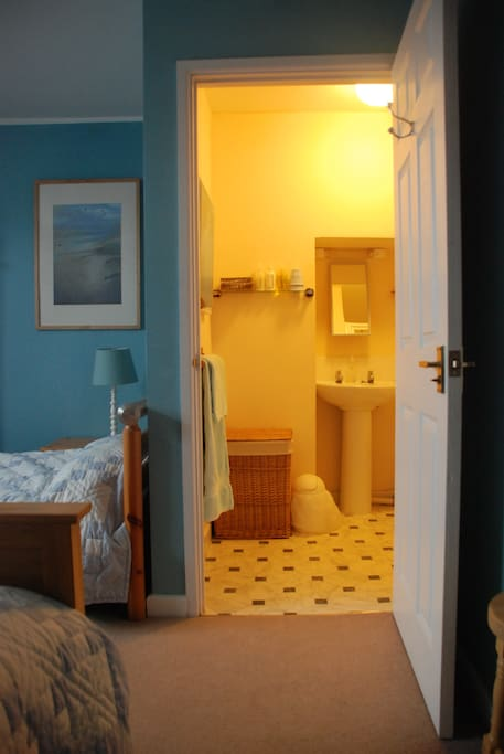 View into the en suite of the second double room