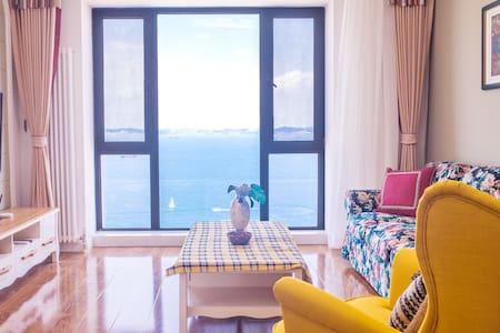 大连东港乡绅之家高层海景房,威尼斯水城,五分钟达地铁二号线,二室二厅一百一十平,两双人床可住四人。