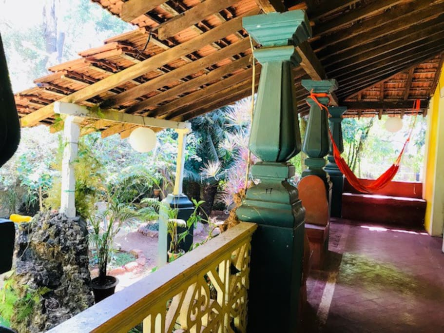 long big balcony , perfect chill out area facing the backyard surrounded by nature.. perfect spot for your morning cup of tea/coffee..