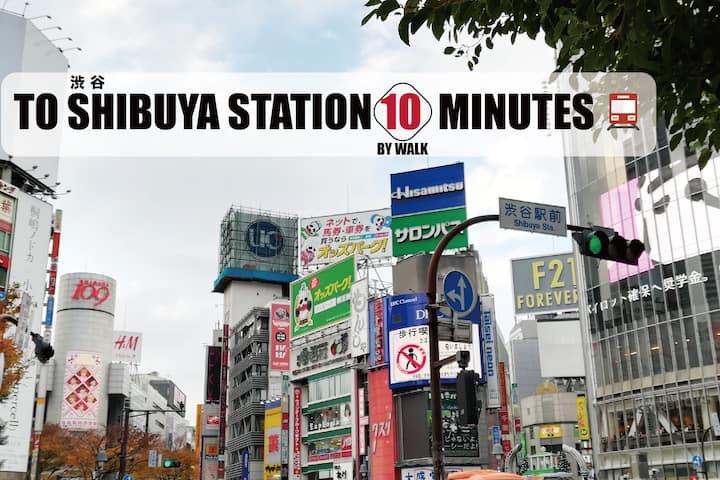 WALK-10Min Shibuya Sta./2Min Shinsen Sta./WIFI