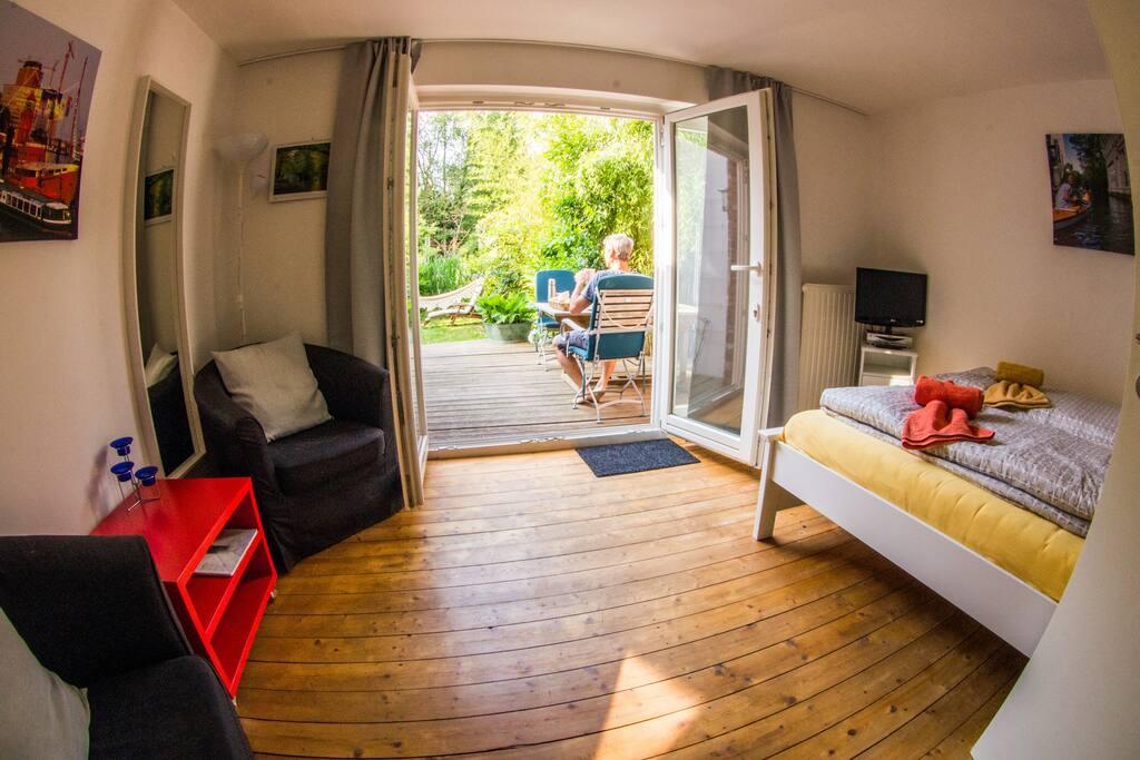 Doppelzimmer mit Sonnenterrasse
