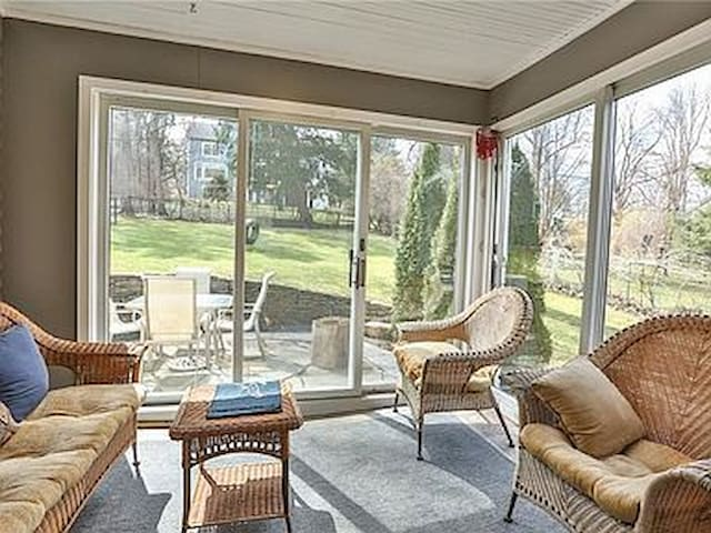 relaxing sunroom