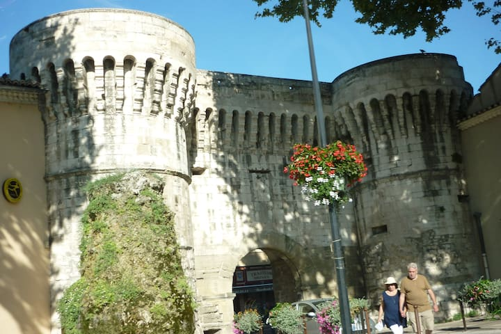 Pernes les Fontaines walls and entrance gate
