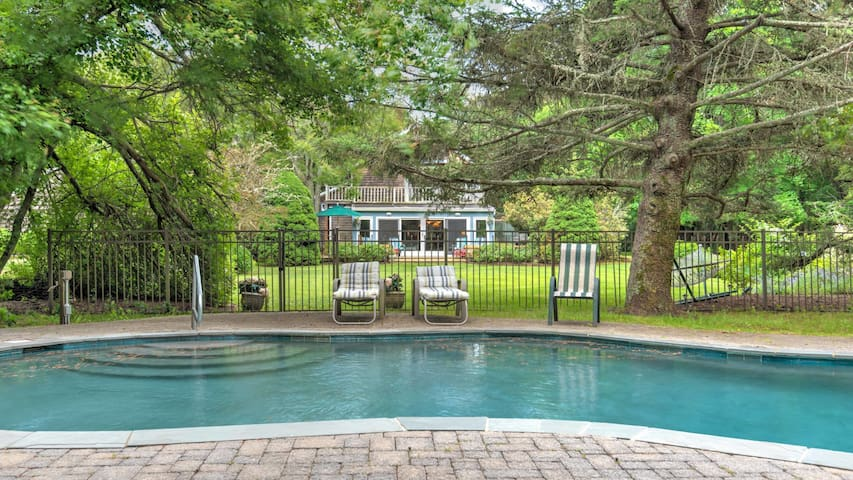 New Listing: On Pond, w/ Heated Pool, 9 acres of Property, Close to Town & Beach