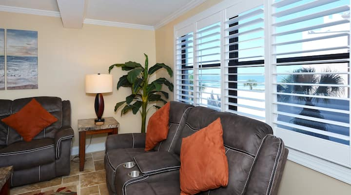 Condo 202 Vacation In Paradise in this beautiful 2BRs 2Baths home away from home at Sea Shell Beach Front Property