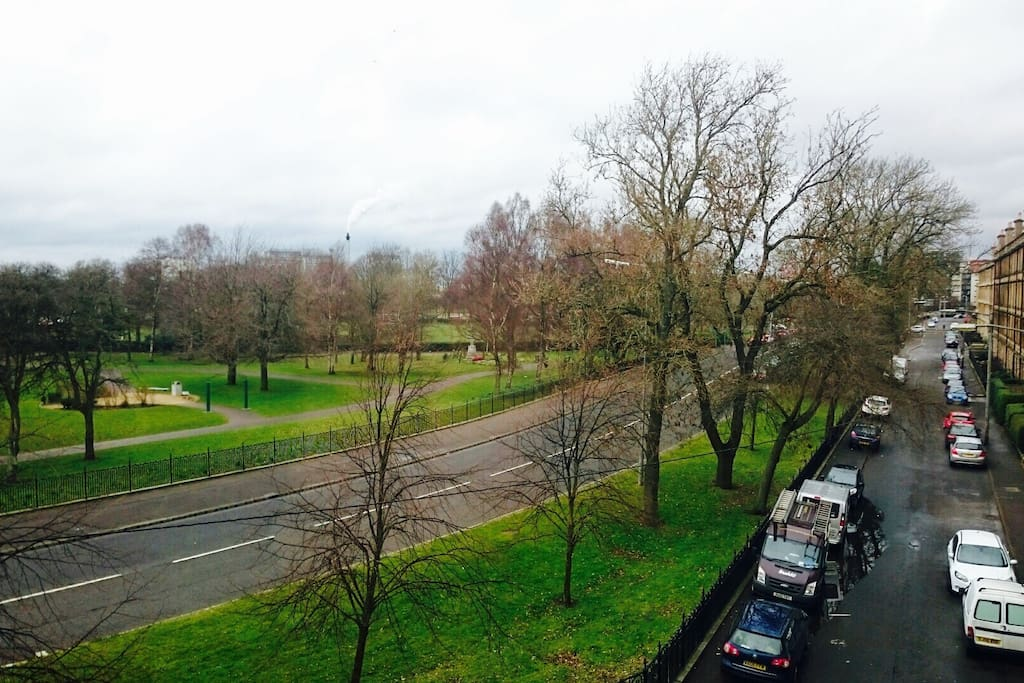 Great views of Glasgow Green