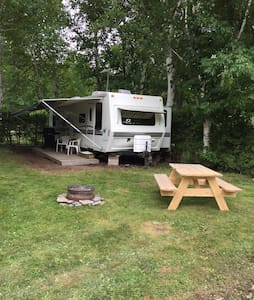 Trailer at family campground - Wiarton