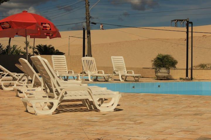 Super Suite (500) frente dunas ao lado da praia