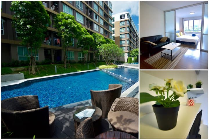 Lulu - One Bedroom Condo with Stunning 100m Pool