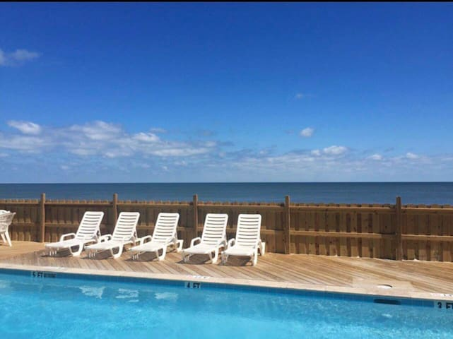 Oceanfront First Floor Condo With Pool