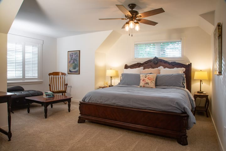 Upstairs Master Suite in Holly Creek Farmhouse
