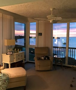 Winter escape for retired lady.  Waterfront condo
