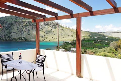 villa ELAN, with beautiful view on Kournas lake