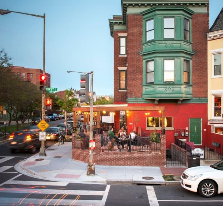 Great restaurants around the corner