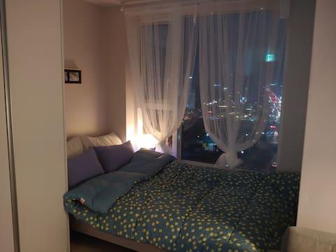 [고급침대교체!] 의정부역 도보 1분, 낭만적인 야경 Romantic night view