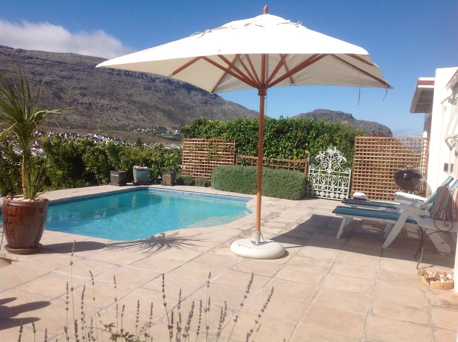 5 X 3m solar heated pool for summer months.