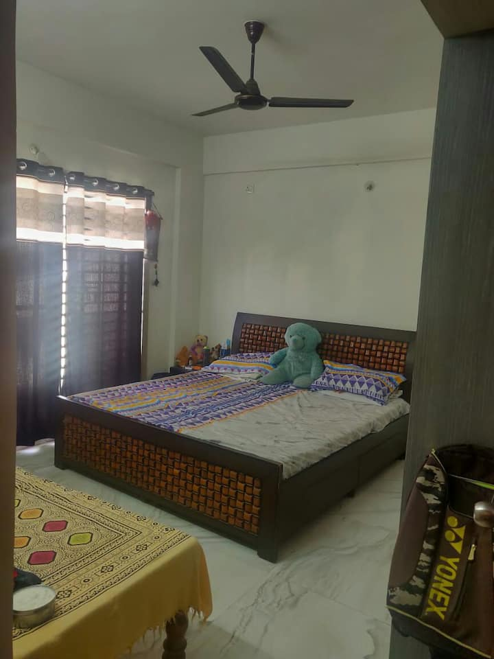 Private room with balcony near Bangalore Airport.