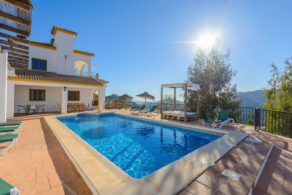 Beautiful villa, pool and terraces.