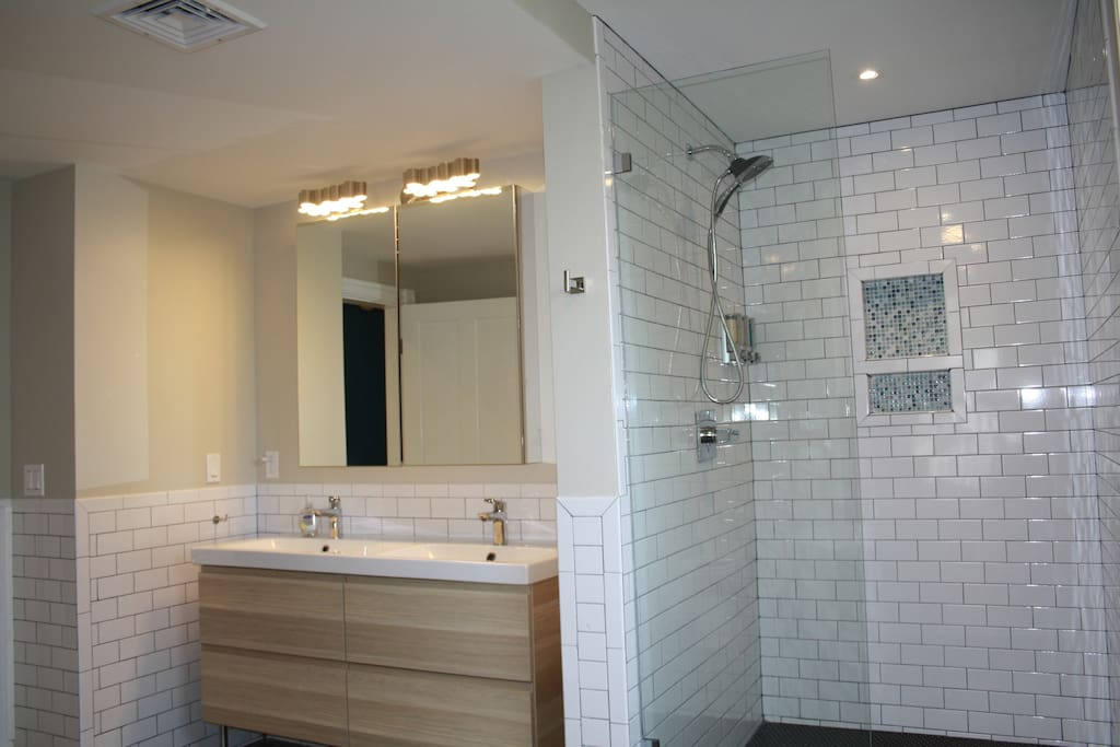 Double Vanity and large shower