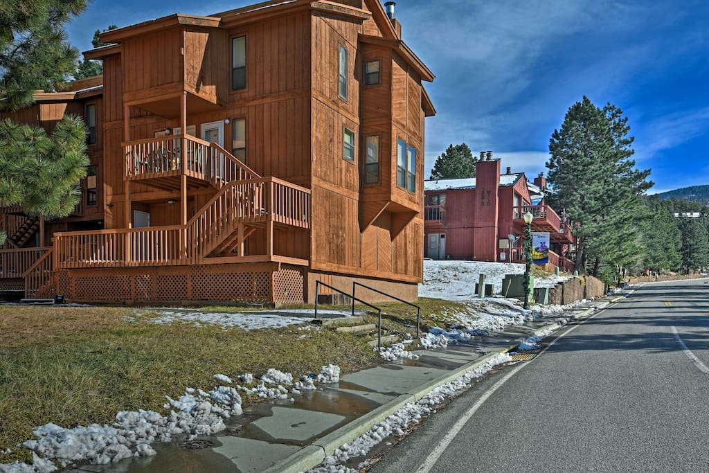 This home is just a block from ski lifts!