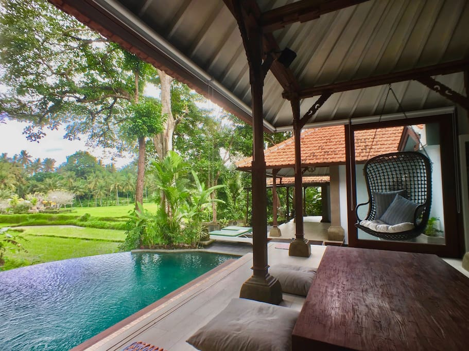 Best of both worlds. The magic of Ubud's nature, on the doorstep to the most loved village on the island.