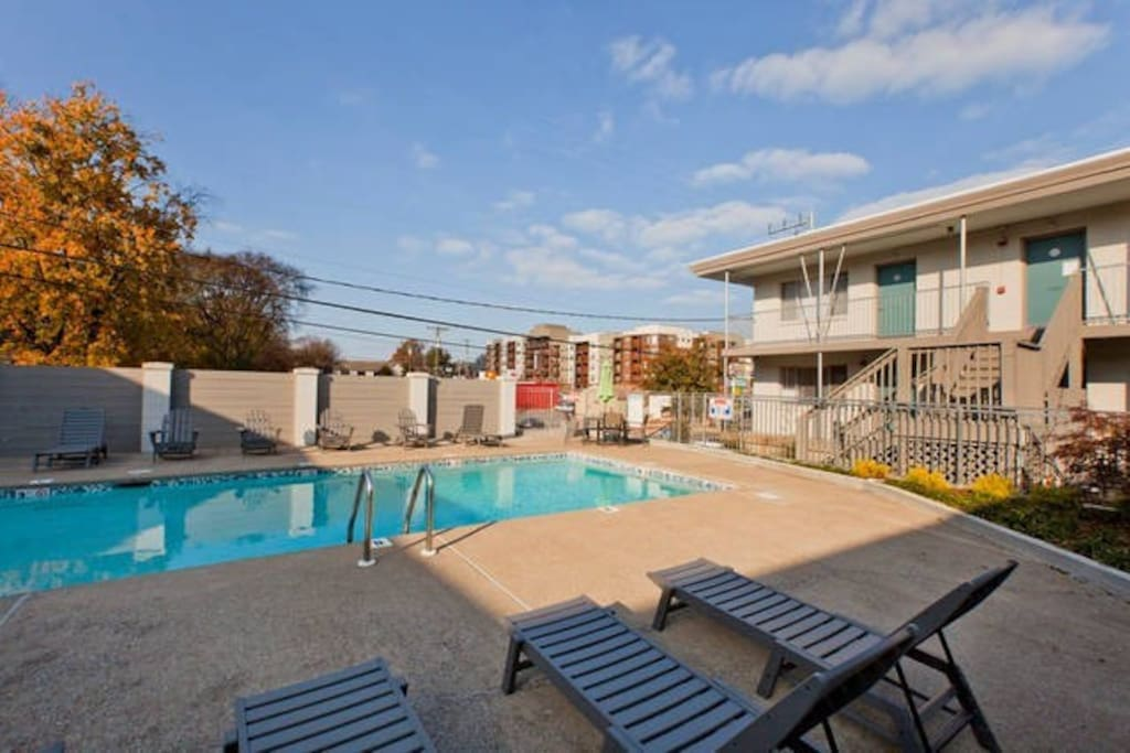 The pool is just outside your door! Hangout and relax! Pool is open seasonally - roughly Memorial weekend thru September.