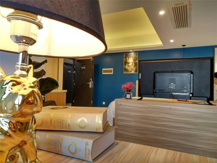 樱桃公寓 (两床双人房)书柜  会展中心/民歌湖/航洋