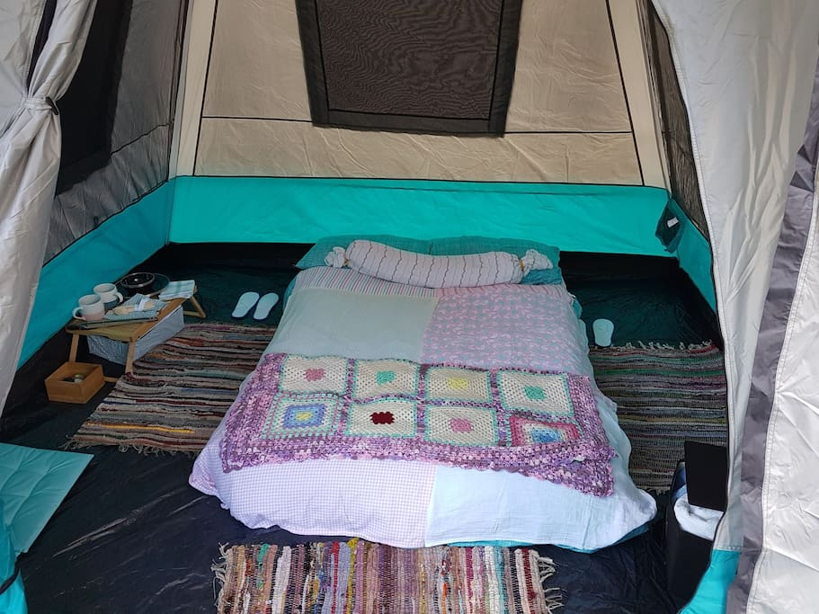 """Glamping"" because ""Comfy-ping"" isn't a word."