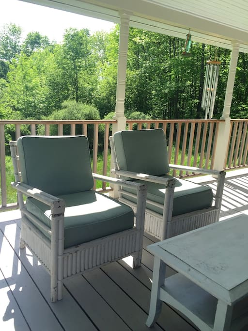 The West covered deck. Basically the summer outdoor living room