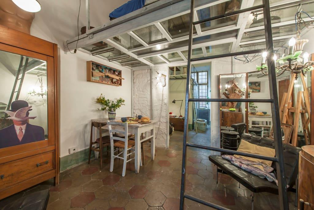 Atelier civico 22 lofts louer rome latium italie for Loft atelier a louer