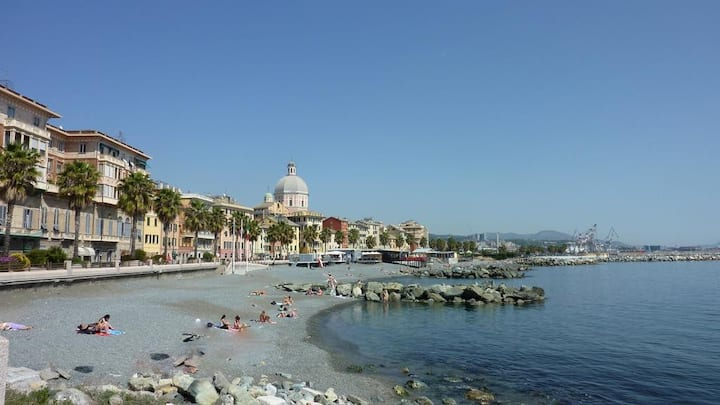 Genoa, apartment near the waterfront, terrace
