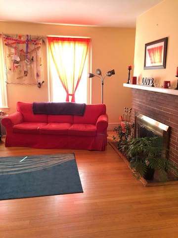 A cozy, comfortable, sunny space. - Hamden