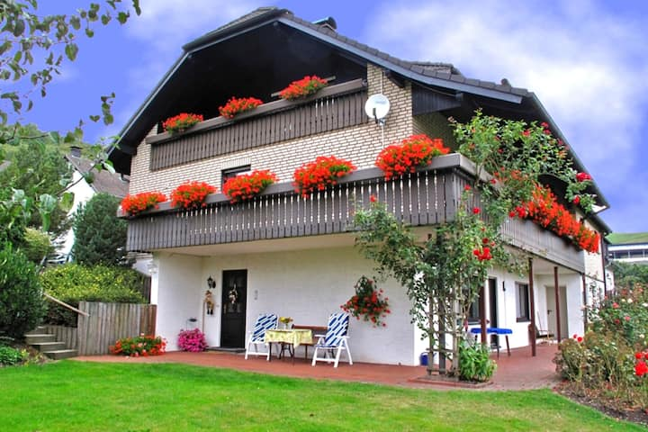 Beautiful apartment in Medebach with a separate entrance and large terrace