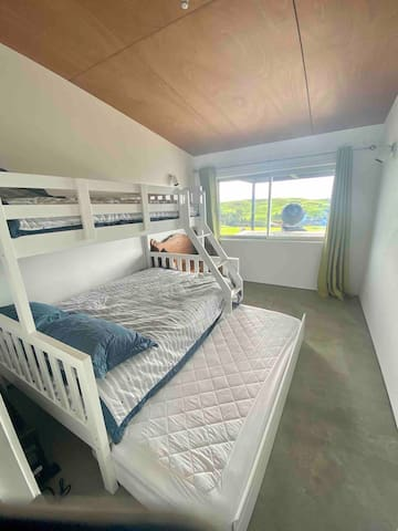 Bedroom 3, ideal for children.  Double bunk-bed that features 2 singles and 1 double.