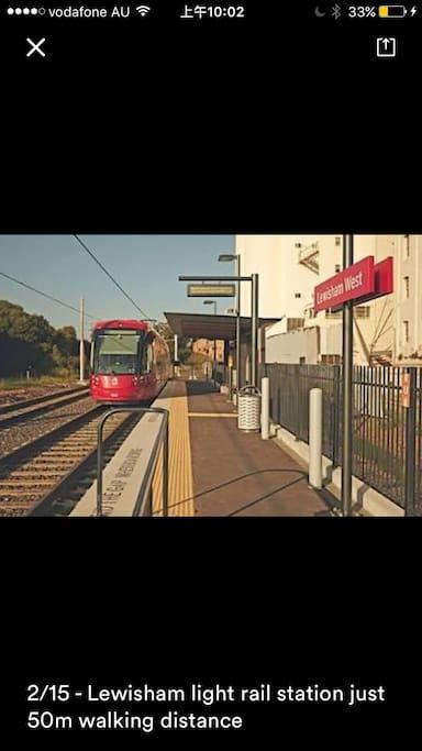 Lewisham light rail station just 50m walking distance