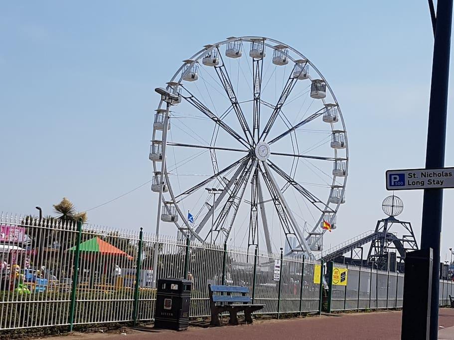 Ferris wheel at Pleasure Beach Great Yarmouth Sea Front