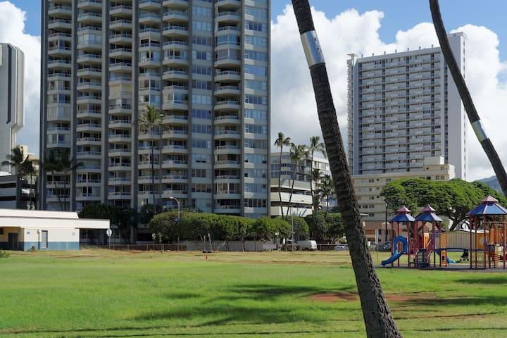 Waikiki Beach apartment with Diamond Head views