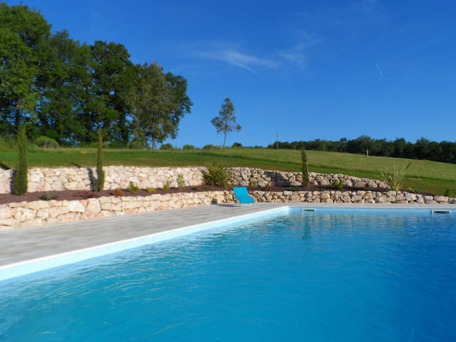 Romantic farmhouse gite for two, stunning location - Labastide-Paumès - Wohnung