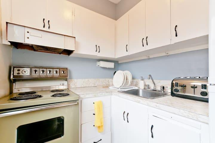 Kitchen with all utensils.