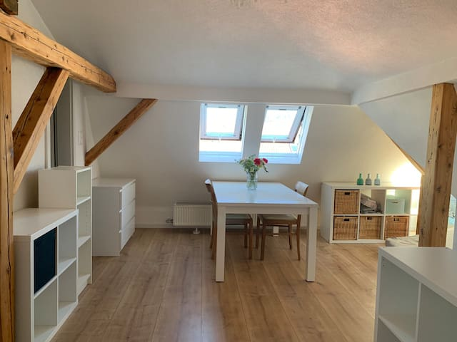 Central top floor apartment with nearby metro