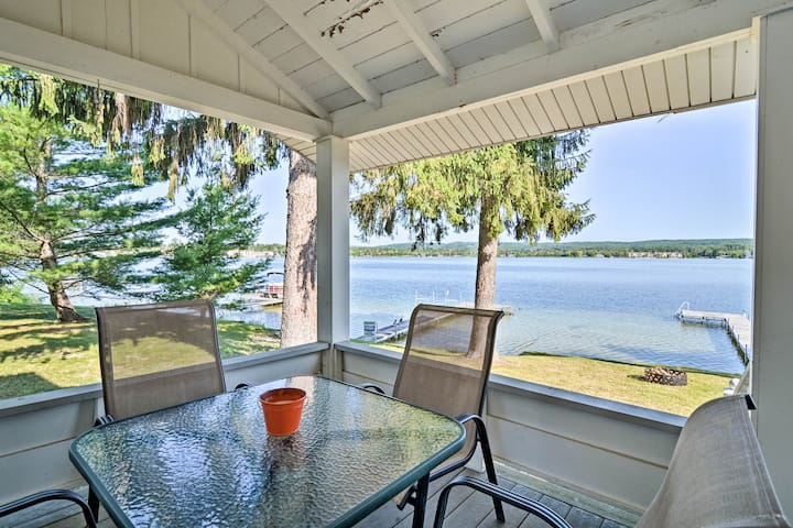 Petoskey Waterfront Cottage w/ Deck + Grill!