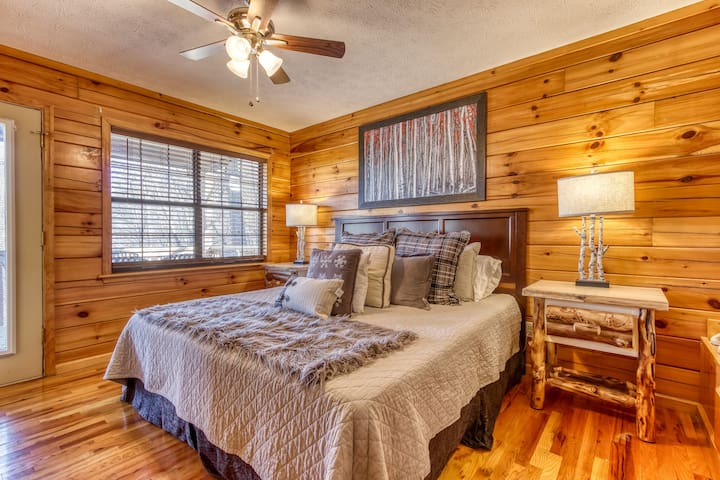 The master bedroom offers lots of space and privacy.