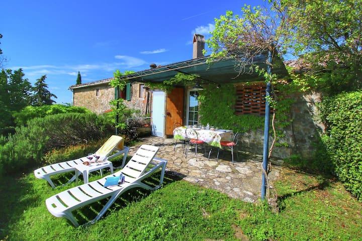 Agritourismo amidst the Chianti Classico vineyards.