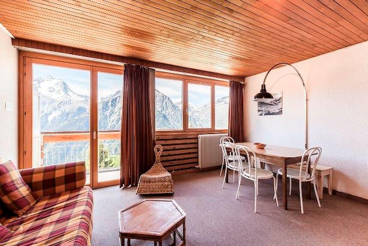 Grd Studio 34 m2, balcon sud, magnifique vue 5° ét - Les 2 Alpes